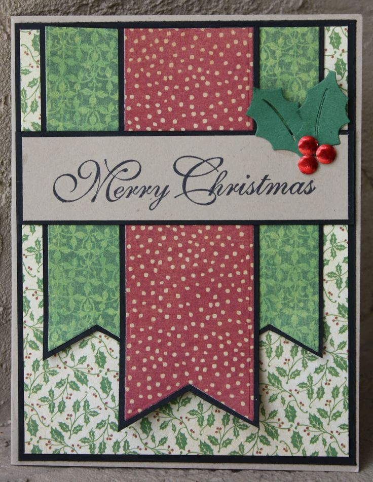 Christmas Card Making Ideas Stampin Up Part - 44: Merry Christmas For Merry Monday By Iluvscrapping - Cards And Paper Crafts  At Splitcoaststampers - Greeting SU