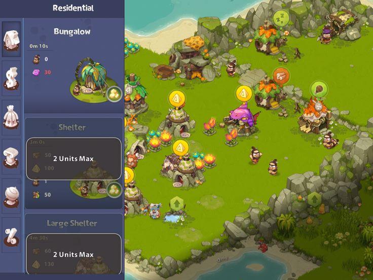 Adventure Era | Buying Structures | UI HUD User Interface Game Art GUI iOS Apps Games | www.girlvsgui.com