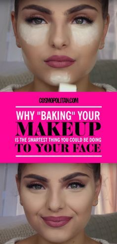 BAKING MAKEUP: The baking makeup trick has been around for years, but it has just become popular now thanks to beauty bloggers. This easy makeup step creates a poreless, flawless finish for your makeup. All you have to do is let a translucent powder sit on your face for 5 to 10 minutes and then dust it off. Click through for step-by-step instructions and to find out why this technique works!