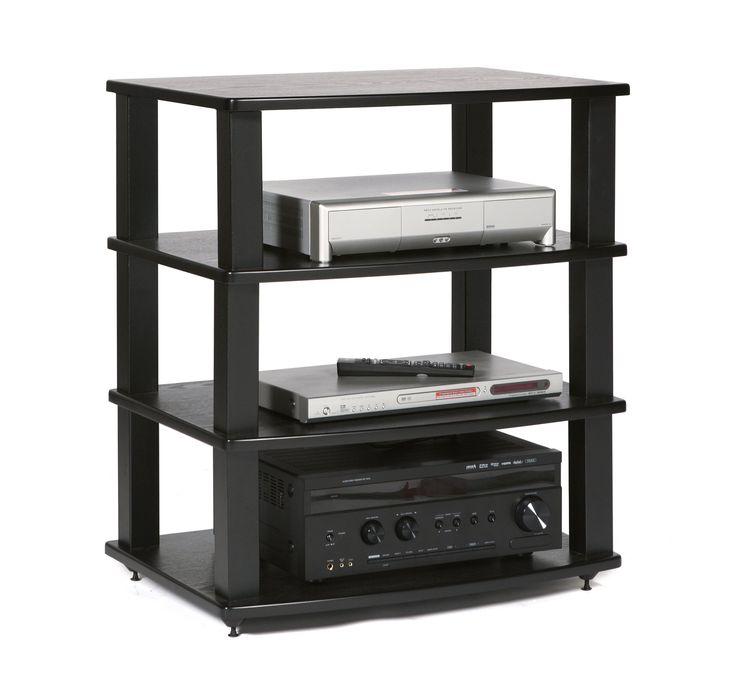 PLATEAU XT-A4 BB Wood and Metal Audio Stand, Black Oak finish