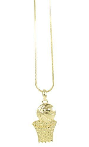 Basketball lovers and fanatics pendant. Show your love for the sport with this adorable sports necklace.