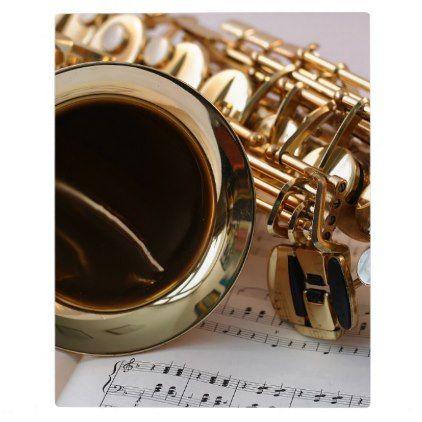 Saxophone Music Gold Gloss Notenblatt Keys Plaque - gold gifts golden customize diy
