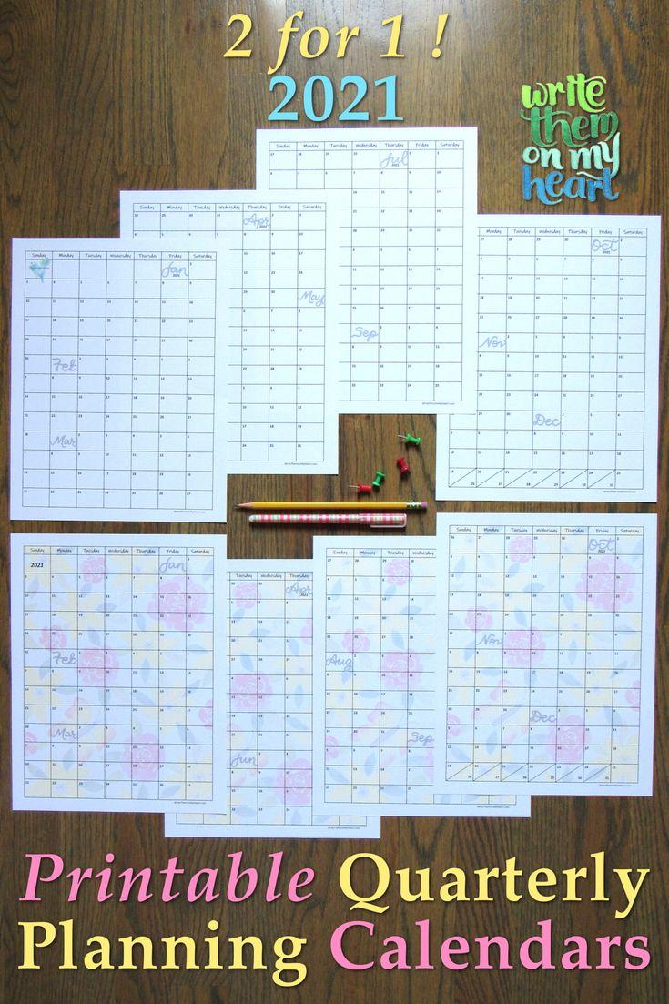 2021 Christian Printable Calendars - Write Them On My ...