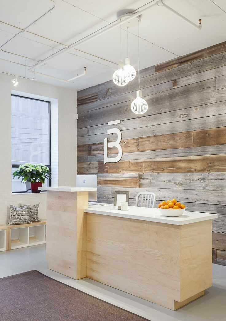 Barre3's Toronto reception area. http://beautyeditor.ca/2015/01/06/ballet-workout