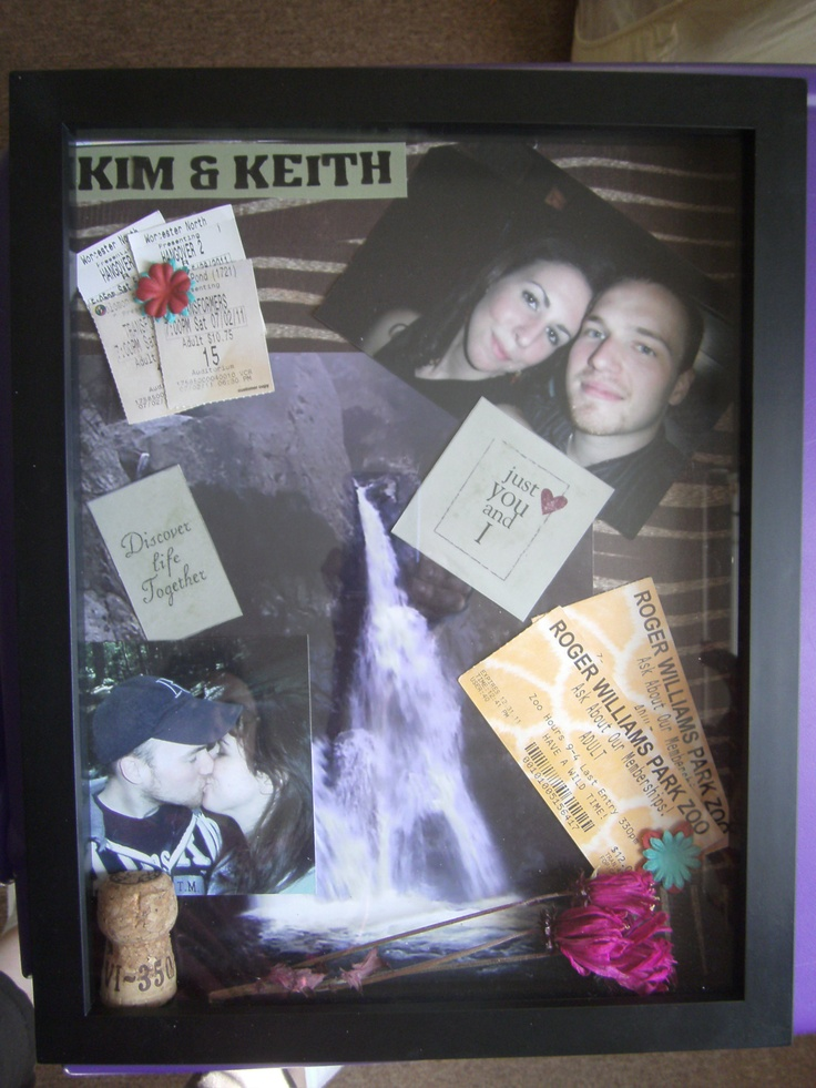 Craft Made 1st Year Relationship Shadow Box Summary Diy