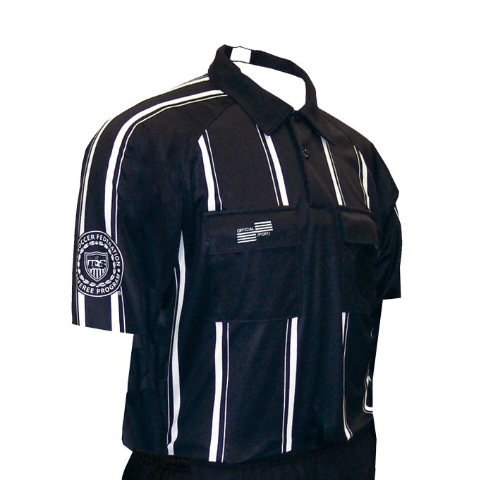 Pro USSF Stripe Shortsleeve Shirt Soccer Referee Gear