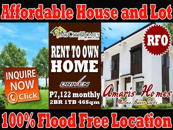 Amaris Homes Bacoor Cavite Ready For Occupancy Rent To Own