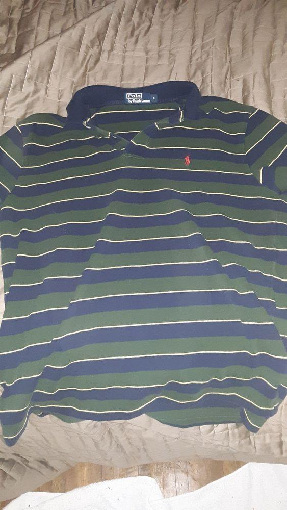 0b9813bb661 Mens polo ralph lauren polo shirt green large  fashion  clothing  shoes   accessories