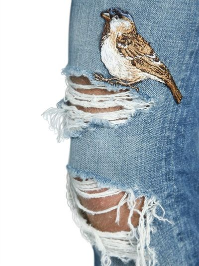 DOLCE & GABBANA - 17CM GOLD FIT EMBROIDERED DENIM JEANS - LUISAVIAROMA - LUXURY SHOPPING WORLDWIDE SHIPPING - FLORENCE
