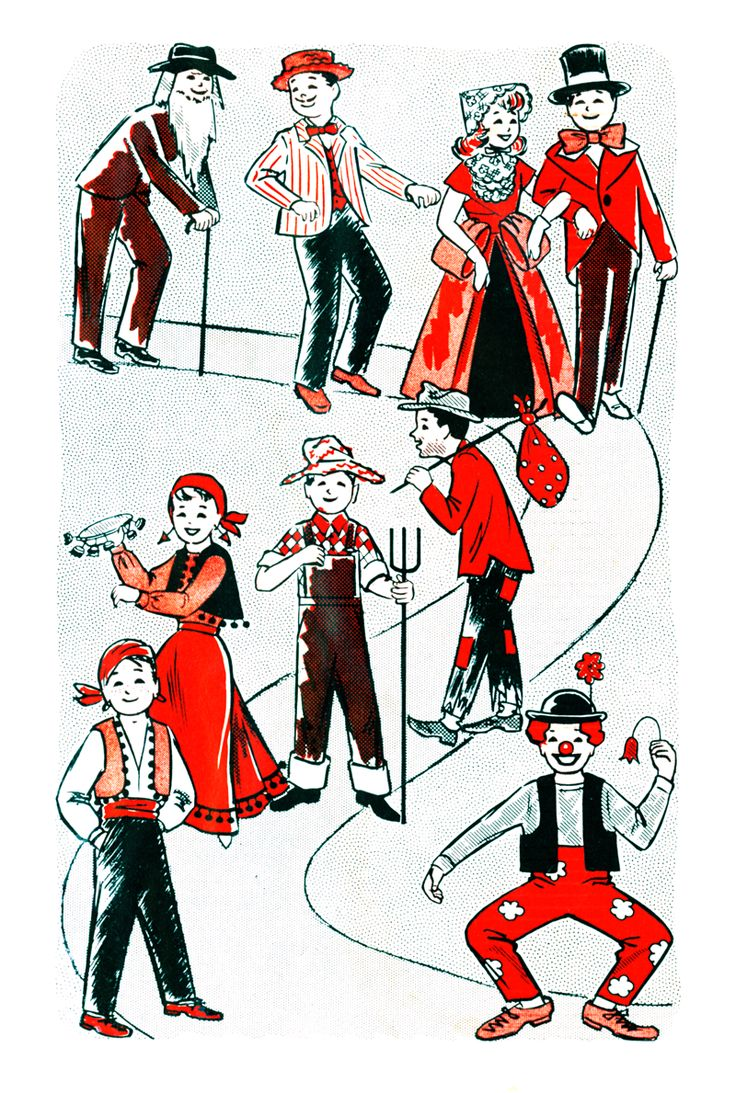 Vintage Pattern Marketplace: free pattern friday  free retro quick halloween costumes
