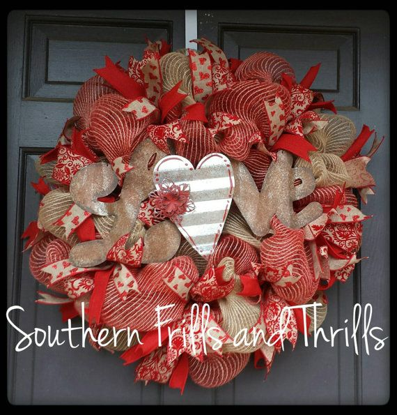 22 Best C F Valentines Wreaths Images On Pinterest Burlap Wreaths