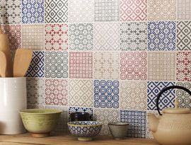 Tiles for the quilter's kitchen!  I really like these!