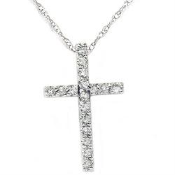 Diamond  cross white gold $99