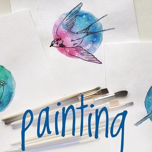 #birds #painting #drawing #акварель #рисование #рисунок #птицы