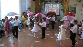 """Танец """"Под зонтиком"""" (видео Костин Л.В.)"""