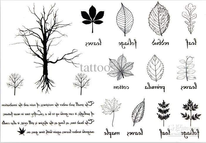 Minimalist Simple Leaf Tattoo: Temporary-tattoos-tree-leaf-tattoo-sticker.jpg (702×488