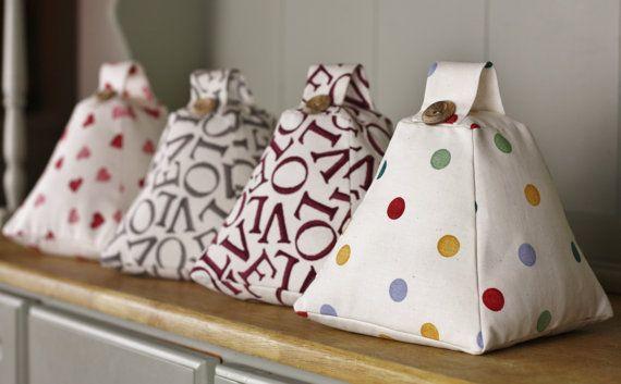 BRAND NEW Handmade Fabric Doorstop in by LittlePumpkinsDesign