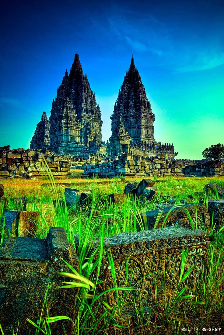 Prambanan Hindu Temple in Central Java, Indonesia