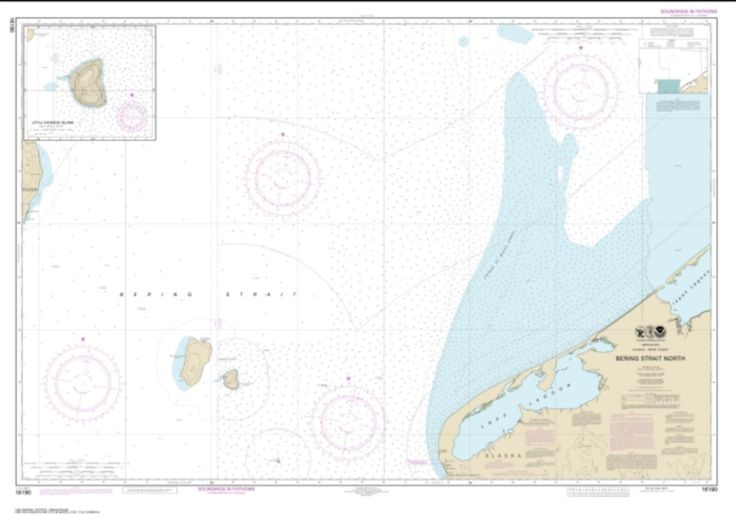 Bering Strait North; Little Diomede Island (16190-1) by NOAA
