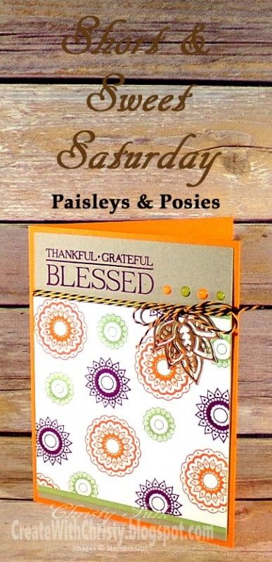 Blessed by StampinChristy - Cards and Paper Crafts at Splitcoaststampers