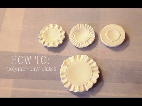Polymer Clay Plates- Such a good tutorial, plus SugarCharmShop has awesome videos. Remember to check out other videos in addition to this one!