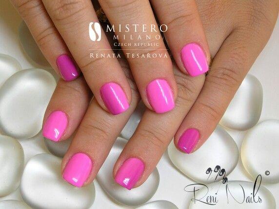 #nails #ombre #fullcovernails #nehty #gelovenehty