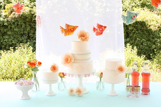 Fun idea for summer party: Dessert Tables, Wedding Ideas, Cake Table, Parties, Wedding Cakes, Party Ideas