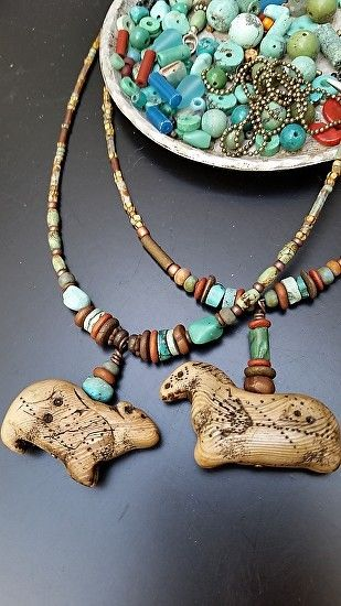 Animal Artifact necklaces by Luann Udell  ~  x