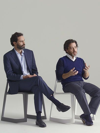 """""""Archetype"""" may seem a rather grand word for """"chair"""" or """"table"""", but the best of Barber Osgerby's work tackles such everyday items with an intellectual rigor that merits the lofty language - Barber & Osgerby interview #ledizione #200steps #canali1934 #canali #salonedelmobile2014 #fuorisalone"""