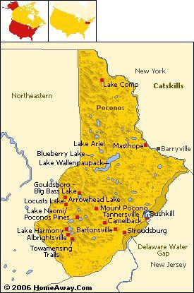 The Poconos - Pennsylvania **** I grew up in lake harmony/split rock. But the Poconos areas is my roots****