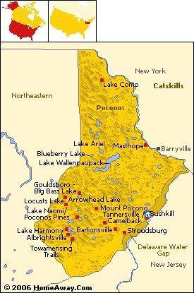 The Poconos - Pennsylvania **** I grew up in lake harmony/split rock. But the Poconos areas is my roots****
