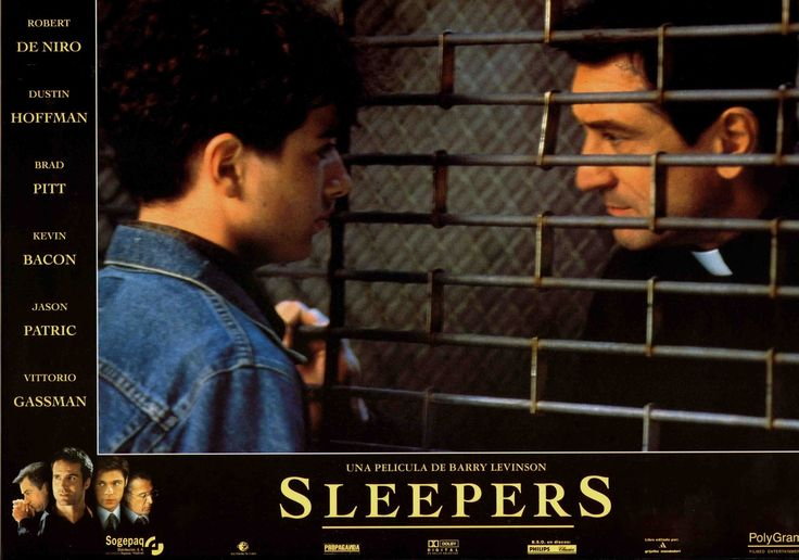 Sleepers, Spanish lobby card. 1996. Submitted by videorecord to lobbycards.tumblr.com