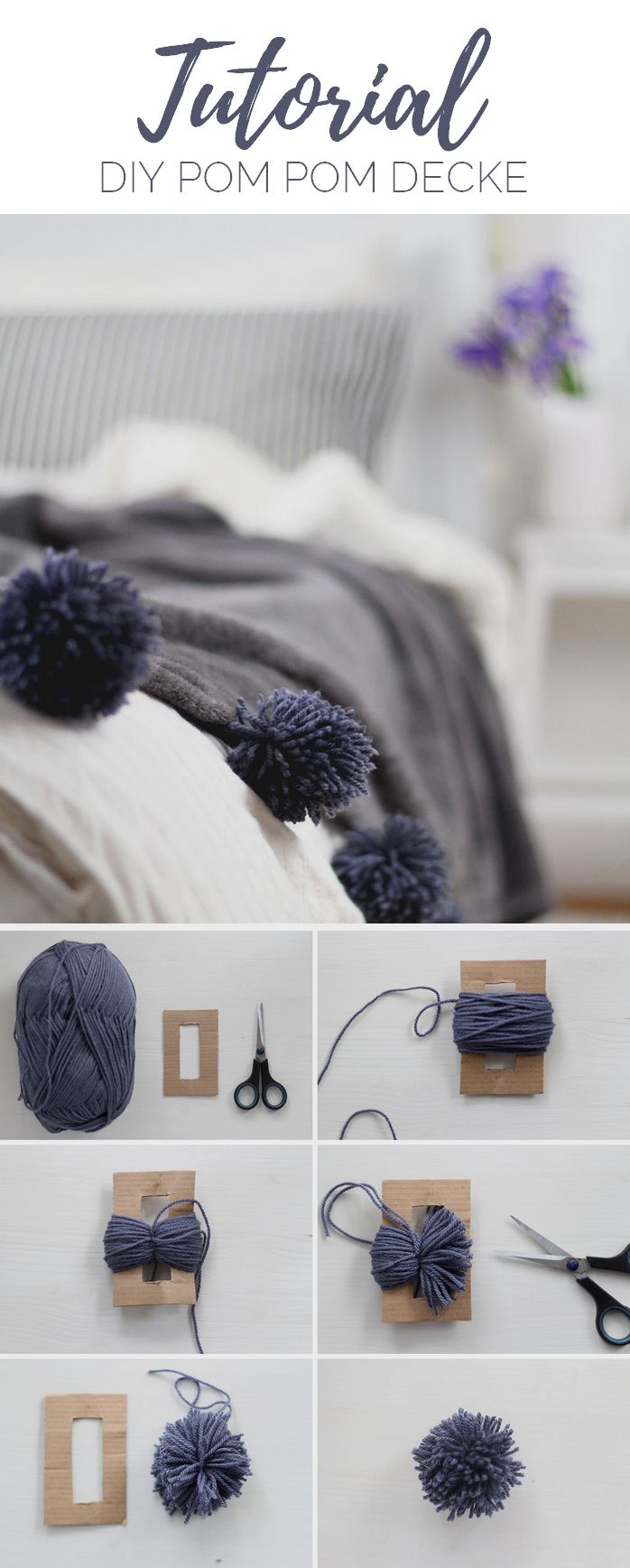 DIY: Making a blanket with pompoms yourself  – nähen und co