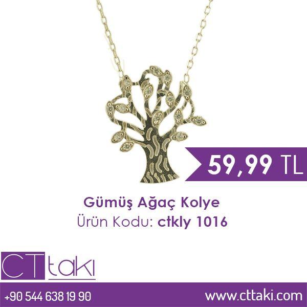 Gümüş Ağaç Kolye. 59,99 TL fiyatı ile CT Takı'da. #gümüş #ağaç #kolye #indirim #ucuz #fiyat #takı #tasarım #takıtasarım #aksesuar #şık #moda #kadın #women #trend #trends #cttakı
