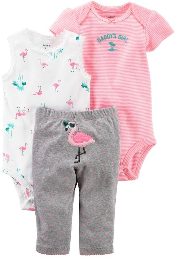 ae8ed0dfb5 Baby Girl Carter s Flamingo Bodysuit