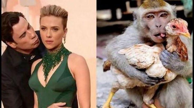 Twitter: memes por beso de John Travolta a Scarlett Johansson