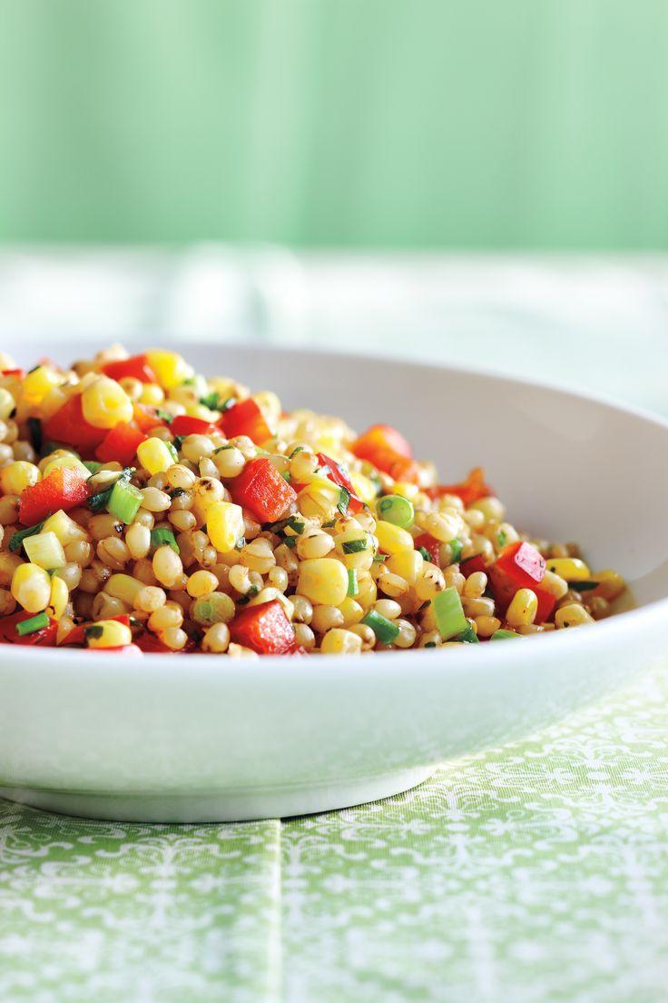 Salade de grains de blé, de maïs et de poivron rouge | yoopa.ca