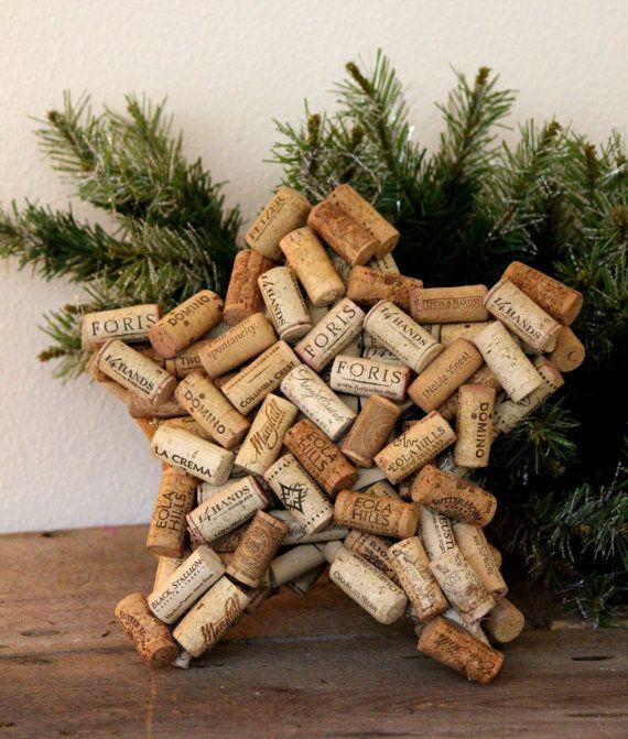 Wine Cork Star, Wine Cork Tree Topper, Star, Cork Star, Wine Corks, Wine, Corks, Christmas Tree, Christmas Tree Star, Christmas Decor, Reuse