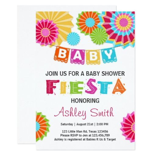 Fiesta Baby shower invitation Mexican baby shower                                                                                                                                                      More