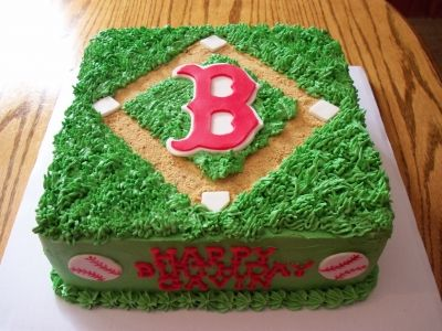 Boston Red Sox Cake - gonna make this cake this weekend :)