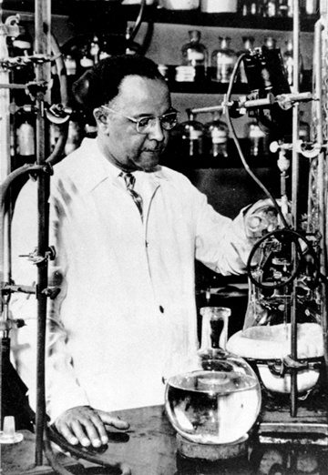 Percy Lavon Julian Synthesis of Cortisone from soy... I watched a Documentary on him and it was truly inspiring. He worked so hard and actutally taught himself chemistry.