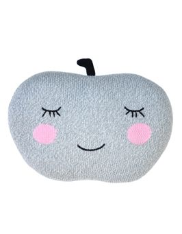 Apple Grey Pillow by Blabla Kids