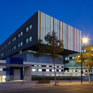 Photoluminescent stripes allow Ibiza's Can Misses Hospital to glow by night