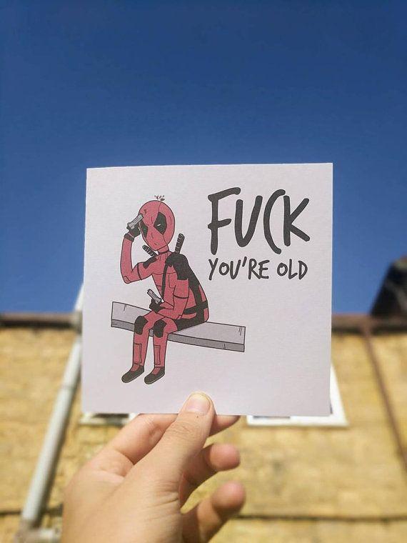 Deadpool birthday card – Superhero / marvel / Wade Wilson / Greetings card / Superhero card / Avengers Card – Grußkarten
