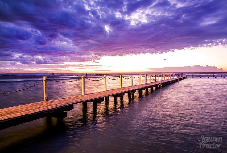 Sunrise under some juicy looking clouds at North Narrabeen Tidal Pool - Lauren Proctor Photography