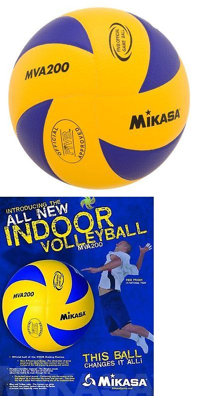 Volleyballs 159132: Mikasa Mva200 2016 Rio Olympic Game Ball (Blue/Yellow) BUY IT NOW ONLY: $41.7