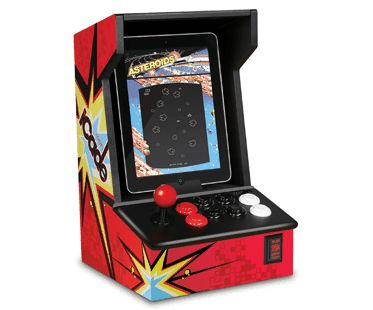 Playing classic games couldn't get more retro than this iPad arcade machine! It's fun and nostalgic design will look awesome in your children's bedrooms or games room! Connect your iPad via Bluetooth and play games using the joystick and buttons. Compatible with many games such as asteroids and centipede that are all available from the app store.
