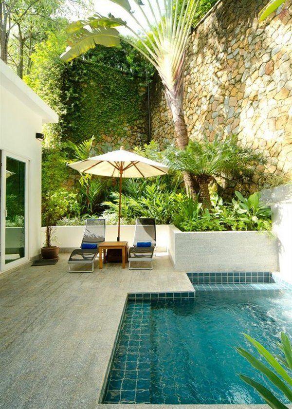 Un petit patio aménagé comme un jardin                                                                                                                                                                                 Plus