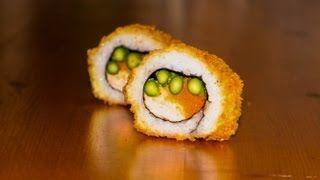 Deep Fried Sushi Roll Recipe - Crispy Tempura Recipe. for more sushi pics follow me here: @makesushiorg  #sushi #art Also check out these sushirecipes here: www.makesushi.org/sashimi