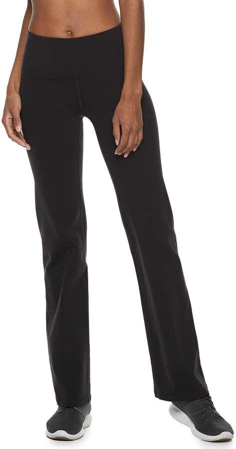 8c58a3dfba Women s Shapewear Flared Workout Pants  TEK moisture wicking ...